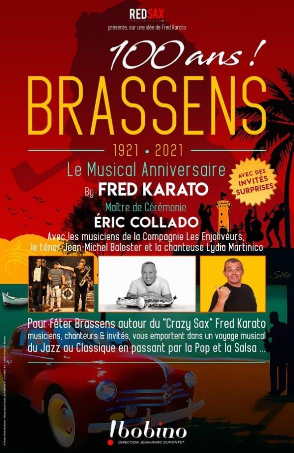 Les 100 ans de Brassens en spectacle à Bobino à Paris
