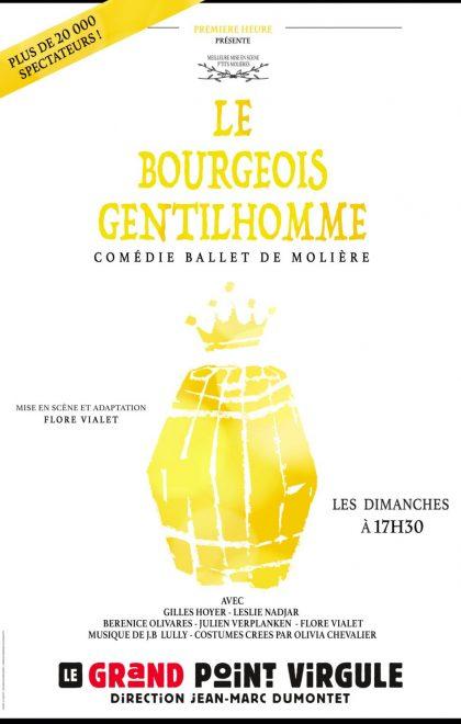 Le Bourgeois gentilhomme en spectacle au Point Virgule à Paris