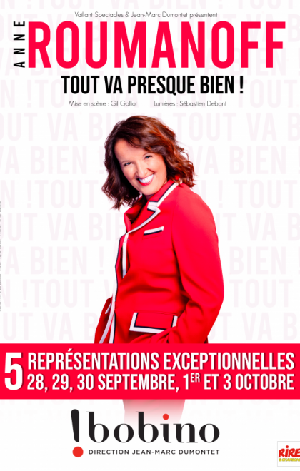 Anne Roumanoff en spectacle à Bobino à Paris